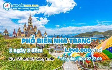 Tour du lịch Nha Trang 3 ngày 3 đêm chất lượng giá rẻ