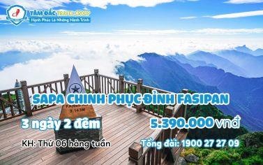 Tour du lịch Sapa chinh phục đỉnh Fansipan 3 ngày 2 đêm