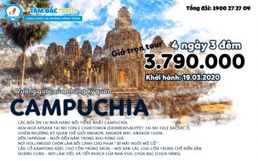 TOUR DU LỊCH CAMPUCHIA SIEMREAP – ANGKOR - PHNOMPENH 4 NGÀY 3 ĐÊM CHẤT LƯỢNG GIÁ RẺ